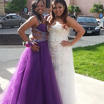 Danya Corlew and Tianna Lusane take pictures before Elyria High's prom.