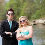 Ryan Zoellner and Mikayla Truxall strike a pose before Elyria's prom on May 10.