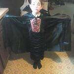 Jenetta Brant, 6, is a little Dracula for Halloween.