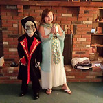 Brendan Craig, 7, is dress as Captain Scurvy, and Hope Craig, 10, is dressed as Cleopatra.