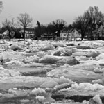 Dawn Neely Randall shared this photo of the ice cracking on the Vermilion River on Feb. 22.