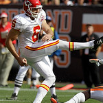 Kansas City Chiefs place kicker Ryan Succop (6) kicks a 23-yard field goal in the fourth quarter of an NFL football game against the Cleveland Browns Sunday, Sept. 19, 2010, in Cleveland. Th …