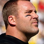 Pittsburgh Steelers quarterback Ben Roethlisberger stands on the sidelines after throwing an interception to Cleveland Browns&#039; Joe Haden during the first quarter of an NFL football game in P &#8230;