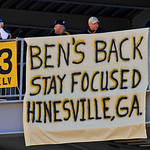 Banners hang in the stands of Heinz Field before an NFL football game between the Pittsburgh Steelers and Cleveland Browns in Pittsburgh, Sunday, Oct. 17, 2010. Steelers quarterback Ben Roet &#8230;