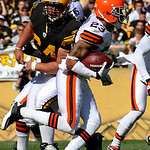 Cleveland Browns' Joe Haden (23) returns an intercepted pass during the first quarter of an NFL football game against the Pittsburgh Steelers in Pittsburgh, Sunday, Oct. 17, 2010. (AP Photo …
