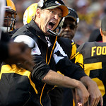 Pittsburgh Steelers defensive coordinator Dick LeBeau gestures on the sidelines during the fourth quarter against the Cleveland Browns in an NFL football game in Pittsburgh, Sunday, Oct. 17, &#8230;