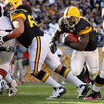 Pittsburgh Steelers running back Rashard Mendenhall takes ball in from the 3-yard line for a touchdown in the fourth quarter of an NFL football game against the Cleveland Browns, Sunday, Oct &#8230;