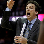 Chicago Bulls coach Vinny  Del Negro signals his players during the second quarter of Game 2 against the Cleveland Cavaliers in the first round of the NBA basketball playoffs Monday, April 1 &#8230;