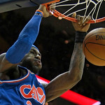 Cleveland Cavaliers' LeBron James (23) dunks the ball in the third quarter in an NBA basketball game against the Phoenix Suns, Wednesday, Dec. 2, 2009, in Cleveland. The Cavaliers won 107-90 …