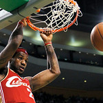Cleveland Cavaliers' LeBron James dunks the ball in the third quarter of an NBA basketball game against the Boston Celtics, Thursday, Feb. 25, 2010, in Boston. The Cavaliers won 108-88. (AP  …
