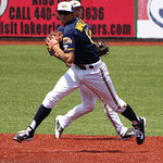 Kent State second baseman Justin Wagler makes the play. CHRISTY LEGEZA/CHRONICLE