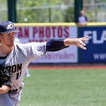 Akron's Pat Dyer pitches against Kent State in the bottom of the fourth inning. ANNA NORRIS/CHRONICLE