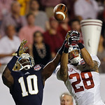 Alabama's Dee Milliner (28) breaks up a pass intended for Notre Dame's DaVaris Daniels (10) during the second half of the BCS National Championship college football game Monday, Jan. 7, 2013 …