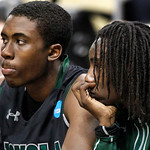 Loyola of Maryland&#039;s Justin Drummond, left and R.J. Williams watch from the bench as their team is losing as time runs down in the second half of an East Regional NCAA tournament second-roun &#8230;