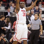 Ohio State's Evan Ravenel celebrates the team's impending win over Michigan State as time runs out in an NCAA college basketball game Sunday, Feb. 24, 2013, in Columbus, Ohio. Ohio State bea …