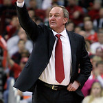 Ohio State coach Thad Matta signals to his player during the second half of an NCAA college basketball game against Michigan State on Sunday, Feb. 24, 2013, in Columbus, Ohio. Ohio State bea …