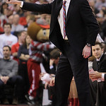 Ohio State head coach Thad Matta directs against Indiana during the first half of an NCAA college basketball game on Sunday, Feb. 10, 2013, in Columbus, Ohio. Indiana defeated Ohio State 81- …