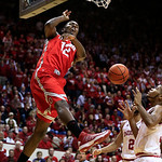 Ohio State&#039;s Sam Thompson (12) dunks during the first half of an NCAA college basketball game against Indiana, Tuesday, March 5, 2013, in Bloomington, Ind. (AP Photo/Darron Cummings)
