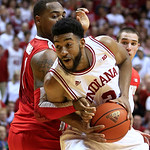 Indiana&#039;s Christian Watford, right, is defended by Ohio State&#039;s Deshaun Thomas during the second half of an NCAA college basketball game, Tuesday, March 5, 2013, in Bloomington, Ind. Ohio St &#8230;