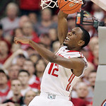 Ohio State's Sam Thompson (12) dunks against Michigan during the second half of an NCAA college basketball game Sunday, Jan. 13, 2013, in Columbus, Ohio. Ohio State won 56-53. (AP Photo/Mike …