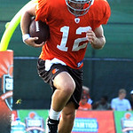 Colt McCoy runs through drills at Browns training camp Aug. 10.  Steve Manheim