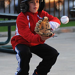 Gavin Hirz, 10 of Avon, practices his baseball skills.  KRISTIN BAUER | CHRONICLE