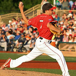Crushers' Matt Rein pitches. AMANDA K. RUNDLE/CHRONICLE