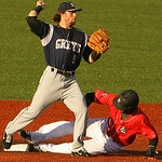 Crushers catcher Emmanuel Quiles into second. AMANDA K. RUNDLE/CHRONICLE