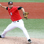 Lake Erie Crushers Matt Litzinger pitches against Joliet. ANNA NORRIS/CHRONICLE