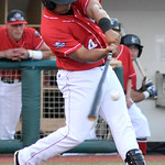 Lake Erie Crushers' Anderson Hidalgo bats. KRISTIN BAUER | CHRONICLE