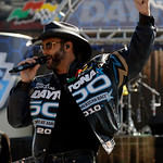 Country music singer Tim McGraw performs prior to the start of the Daytona 500 NASCAR auto race at Daytona International Speedway in Daytona Beach, Fla., Sunday, Feb. 14, 2010. (AP Photo/Joh …