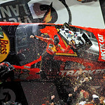 Jamie McMurray celebrates after winning the NASCAR Daytona 500 auto race Sunday, Feb. 14, 2010, at Daytona International Speedway in Daytona Beach, Fla. (AP Photo/J Pat Carter)