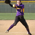 Avon's starting pitcher #3 Maddie Luca.