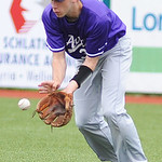 Avon right fielder Jeff Laraway fields a ground ball.  KRISTIN BAUER | CHRONICLE