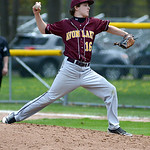 Avon Lake's Tyler Shema pitches against Elyria. KRISTIN BAUER | CHRONICLE