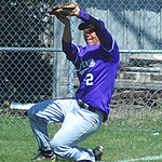 Avon left fielder Andrew Lee runs to catch a long hit ball, near the fence. KRISTIN BAUER   CHRONICLE