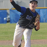 Midview's Dylan Brister pitches. STEVE MANHEIM/CHRONICLE