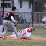 Elyria's Darrion Overall stole two bases after a bad throw by North Olmsted pitcher Brad Novak. CHRISTY LEGEZA/CHRONICLE