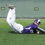 Keystone shortstop Kendle Stiner dives for a ball hit by Benedictine. KRISTIN BAUER | CHRONICLE
