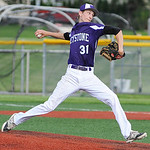 Keystone's Collin Fitzgerald pitches against Benedictine. KRISTIN BAUER | CHRONICLE