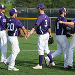 Keystone celebrates a no-score inning against Benedictine.  KRISTIN BAUER | CHRONICLE