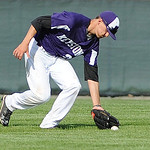 Keystone center fielder Pierce Young fields a ground ball against Benedictine. KRISTIN BAUER | CHRONICLE