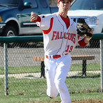 Firelands' Steve Pete makes a throw to first base. STEVE MANHEIM/CHRONICLE