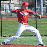 Greg Kunze pitches for Lutheran West.  STEVE MANHEIM/CHRONICLE