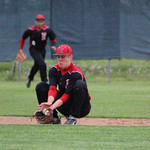 Elyria shortstop Zack Minney makes the play for the out. CHRISTY LEGEZA/CHRONICLE