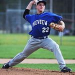 Midview's Dylan Brister pitches against Elyria.  KRISTIN BAUER | CHRONICLE