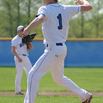 Midview's Kyle Warner pitches against North Ridgeville on Tuesday.  KRISTIN BAUER | CHRONICLE