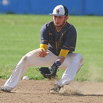 North Ridgeville second baseman Logan Armaro fields a ground ball against Midview on Tuesday.  KRISTIN BAUER | CHRONICLE