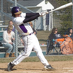 Vermilion's #29 Nick Dlugosz hits a double.
