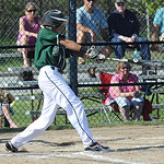 EC Angelo Cruz hits an RBI single in second inning May 15.  Steve Manheim